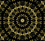 Gold splash wallpaper. Abstract fractal image resembling gold floral splash wallpaper Stock Photo