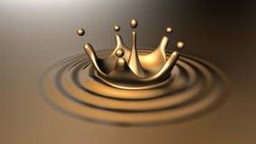 Gold splashes Stock Image