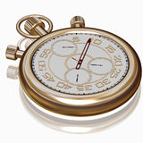 Gold sport Stopwatch on white Royalty Free Stock Photography