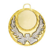 Gold Sports medal. Isolated on a white background Stock Photos