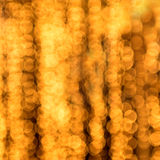 Gold spots bokeh Stock Image