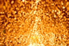 Gold spots bokeh Royalty Free Stock Photo