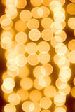 Gold spots bokeh Royalty Free Stock Photos