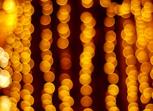 Gold spots bokeh Royalty Free Stock Photography