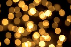 Gold spots bokeh background Royalty Free Stock Photography