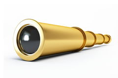 Gold spyglass Stock Images
