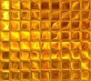 Gold background. Gold square mosaic, luxury background Stock Photo