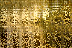 Gold square mosaic tiles for texture background royalty free stock photos