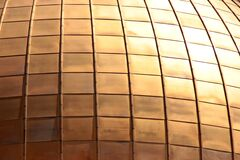 Gold Square Pattern Royalty Free Stock Photo