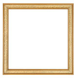 Gold Square Picture Frame Stock Photo