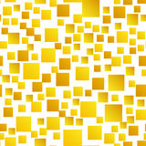 Gold Squares Seamless Pattern. Random pattern with gold squares. Vector seamless texture Royalty Free Stock Photography