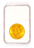 Gold St Gaudens Coin in Grading Case Stock Images