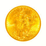Gold St Gaudens Coin Isolated Royalty Free Stock Photos