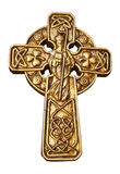 Gold St Patrick's Cross Stock Photo