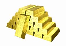 Gold_stack Royalty Free Stock Images