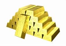 Gold_stack Royalty-vrije Stock Afbeeldingen