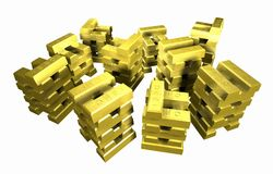 Gold_stack_5A stockbild