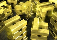 Gold_stack_5 Stock Images