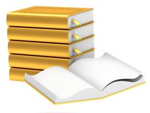 Gold stack of books Stock Images