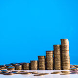 Gold stack of coins Royalty Free Stock Photo