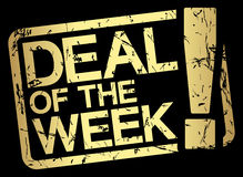 gold stamp with text deal of the week stock illustration