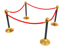 Gold stanchions Royalty Free Stock Images
