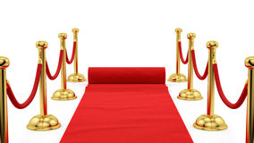 Gold stanchions Stock Image
