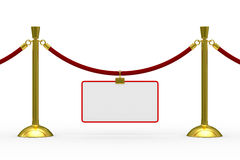 Gold stanchions on white background Stock Photography