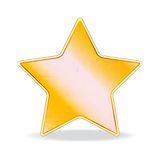 Gold star Œ. Vector illustration of a gold star for design Stock Images