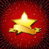 Gold star. Royalty Free Stock Images