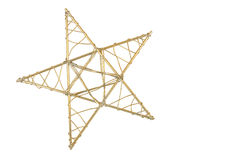 Gold Star. A gold star on a pure white background Royalty Free Stock Photo