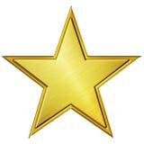 Gold star. Golden star illustration isolated on white Stock Photo