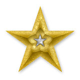 Gold Star. With a silver inner star Royalty Free Stock Photos