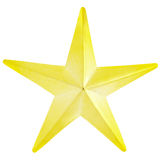 Gold star. Isolated on white, clipping path included Stock Photography