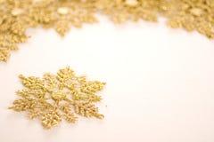 Gold star. Ornamental golden snowflake glod star Stock Photography