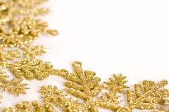 Gold star. Ornamental golden snowflake glod star Stock Image