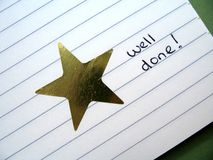 Gold star 2 Stock Photo