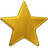 Gold star. 3d rendering of a single gold star Stock Photography