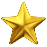 Gold star. 3d rendering of a single gold star Stock Images