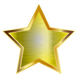 Gold star. Isolated on white background Stock Image