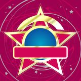 Gold star. Disco background. Detailed vector illustration Royalty Free Stock Images