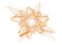 Gold Star Abstract On White Royalty Free Stock Images
