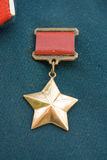 Gold star award Royalty Free Stock Photos