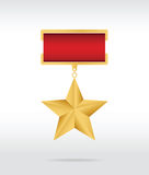 Gold star award Stock Image