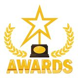 Gold star award Stock Images
