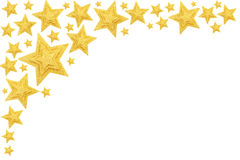 Gold star background. Gold stars background, isolated on white Royalty Free Stock Photography
