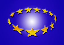 Gold star background Stock Image