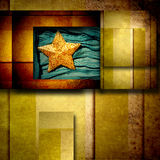 Gold star background card Stock Photo