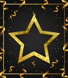 Gold Star Background royalty free illustration