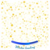 Gold star background on white. Golden abstract decoration. Winte. R loading Royalty Free Stock Photos